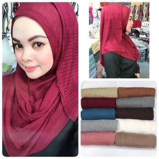 Instant travel knitted shawl - sarung sekali (RED ONLY)