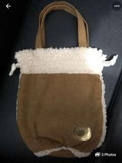 Tsumori Chisato suede tote bag in camel color