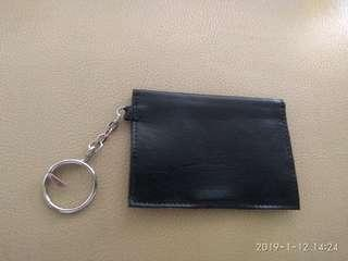 Mini black card wallet storage