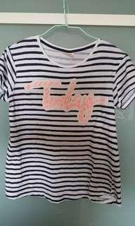 🚚 Zara條紋短袖上衣