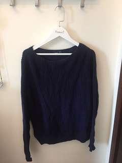 ASOS Navy Knit Sweater Jumper 深藍色冷衫 UK12