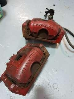 Stock Civic Type R Front Brakes