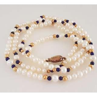 🚚 Luxury Royal Jewellery, Designer Freshwater Pearl Necklaces, 585 14K Gold Clasp, Lapag Beads, Customized Hand-made, Beautiful Colours, Avant-grade, for Royalty, for Queen, for Princess, Iconic, Yuppies, Art Décor, Collector, Original, Authentic