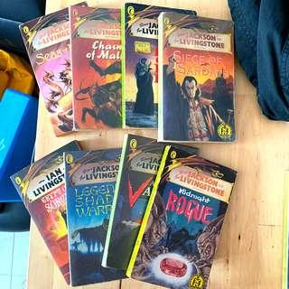 Fighting fantasy game books, all 8 books for RM30
