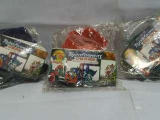 Rare 2007 Transformers Cybertron Robot Blasters Complete Set (Jollibee)