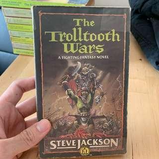 Fantasy novel by Steve Jackson, the Trolltooth wars. AMAZING READ