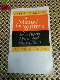 A Manual For Writers