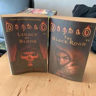 Diablo fantasy novel. 2 books for RM50