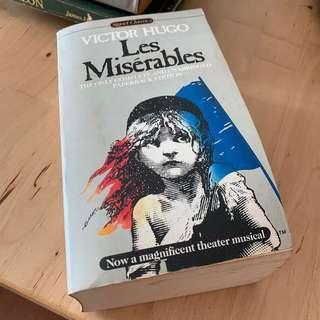 Les Miserables Novel by Victor Hugo, paperback edition