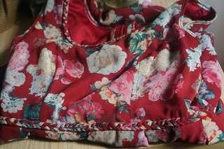 Floral dress, really high quality materials