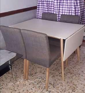 4 Chair Folderble Dining Table