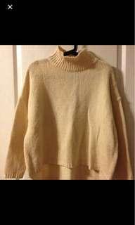 🚚 正韓 粗針織高領毛衣