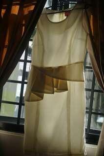 White symetrical dress