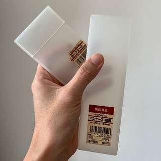 Muji pencil case and card case