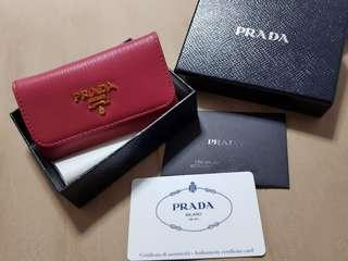 🔥CNY sale🔥Prada 6 key holder in pink (1PG222)