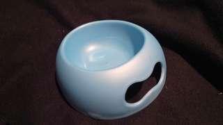 漂亮藍色造型寵物碗