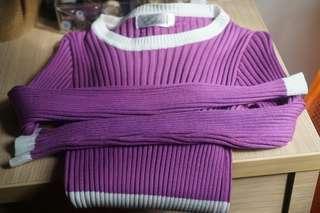 Purple long sleeve body dress