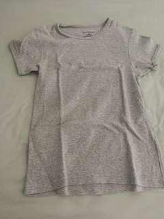Giordano women top fit grey t-shirt