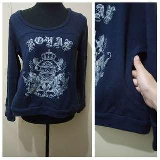 WA1033 Blue Sweatshirt - see pics for Measurements