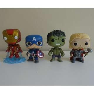 7 x POP Marvel Avengers 2 (#66 to #72)