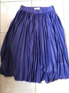 Twenty3 purple pleated skirt