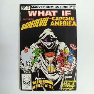 What If #38 (1983) featuring Daredevil and Captain America - Marvel Comics /Bronze Age