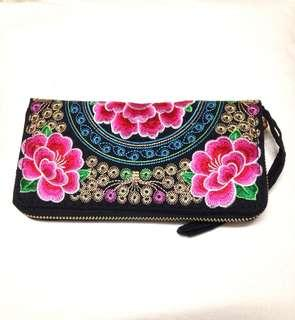 Embroidered Wallet (BNWOT)