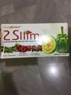 Phytoscience 2SLLIM botanical beverage mix kiwi with green coffee