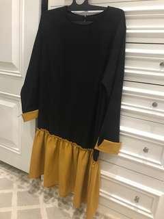 NEW black yellow dress