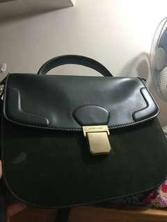 Repriced! Charles & Keith Moss Green Bag