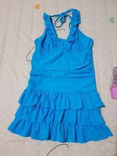 #bersihbersih Blue One Piece Swimsuit
