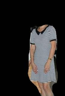 H&M White and Black stripes dress