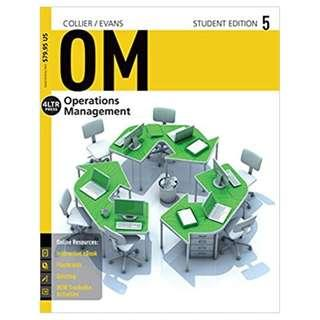 OM5 (Operation Management) Textbook