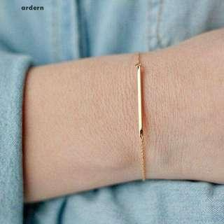 Women fashion simple slim bracelet