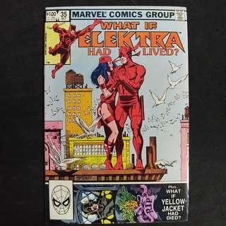 What If #35 (1982) Elektra had lived - Frank Miller Daredevil - Marvel Comics / Bronze Age