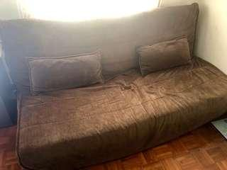 3 Seat Sofa Bed/Queen size bed with built in storage