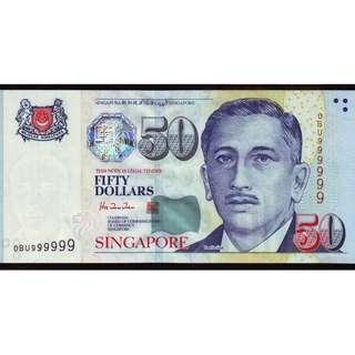 0BU 999999 Portrait $50 UNC