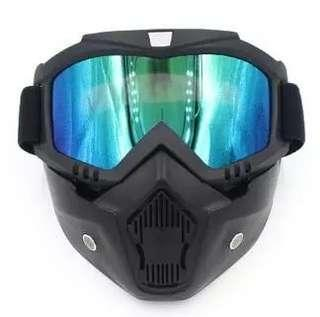 🆕🌟Hot Sales Modular Mask Detachable Goggles And Mouth Filter