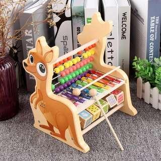 Wooden xylophone and counting toy