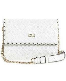Authentic Guess RAYNA White Crossbody Bag