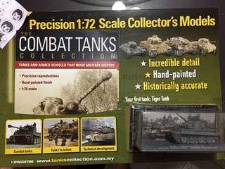 DeAgostini Combat German Tiger Tank Battlefront 1:72 scale Model