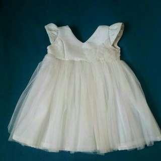White Tutu Gown / White Baptismal Dress