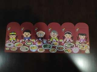 Brand New in Plastic Chinese New Year Limited Edition Reunion Dinner Red Packet