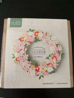 Jeancard 3D pink flowers wreath
