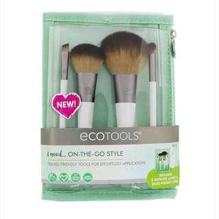 🚚 EcoTools 4 Piece Bruh set & Dual Pocket Case