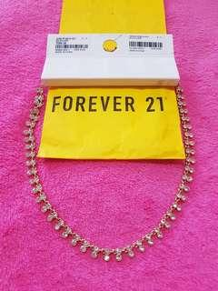 Forever 21 jewelry necklace gold/clear