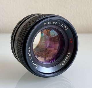 Carl Zeiss 50mm f1.4 manual vintage lens