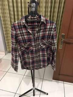 Flannel shirt studded #bersihbersih