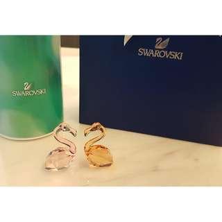 (New in Box) Swarovski In Love Flamingos - Claude & Claudine