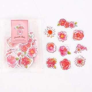 🚚 Pretty Pink Flower Stickers